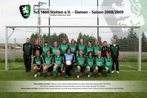 TuS Damen in der Saison 2008/2009
