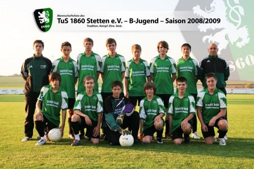 B-Jugend in der Saison 2008/2009