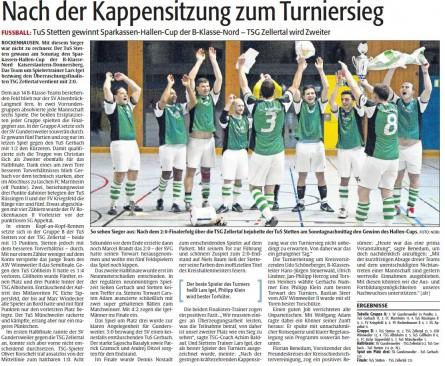 Sterrer Löwen freuen sich über den Gewinn ihrer ersten Kreishallenmeisterschaft!