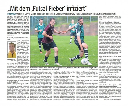 Martin Rode im Rheinpfalz Interview