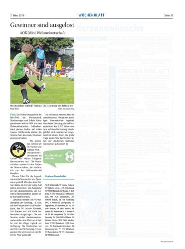 Wochenblatt – Ausgabe Kirchheimbolanden 07. März 2018, Seite 31